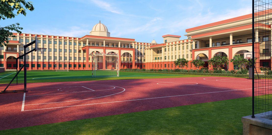 "The Oriental School<br><span class=""yellow"">Bhopal, Madhya Pradesh</span>"